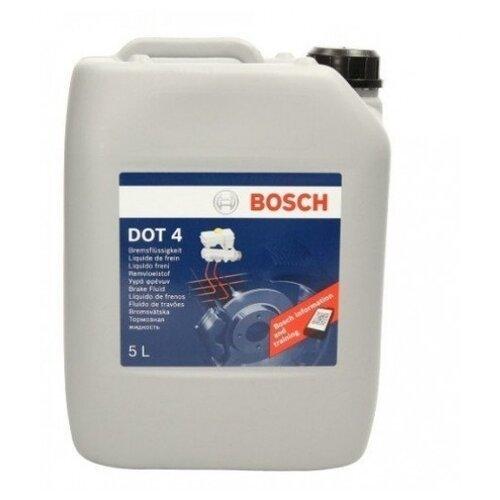 Тормозная жидкость Bosch DOT 4, Brake Fluid 5 л тормозная жидкость bosch dot 4 brake fluid 1 л