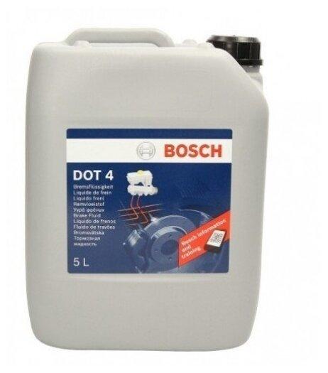 Тормозная жидкость Bosch DOT 4, Brake Fluid 5 л