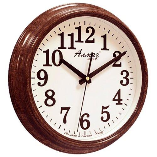 Часы настенные кварцевые Алмаз A87 коричневый/белый часы настенные кварцевые алмаз c51 c54 коричневый белый