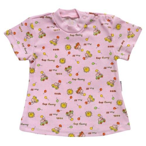 Купить Футболка Клякса размер 24-80, розовый, Футболки и рубашки