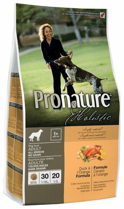 Корм для собак ProNature Holistic утка С апельсином 13.6 кг