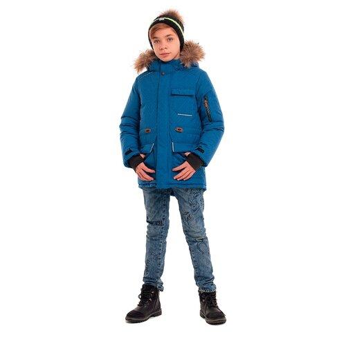 Купить Парка Stella М-467 размер 158, синий, Куртки и пуховики
