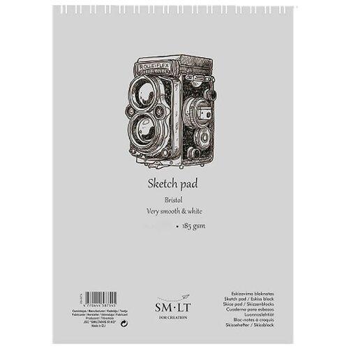 Альбом для эскизов Smiltainis Authentic Bristol 21 х 14.8 см (A5), 185 г/м², 30 л. изотермический контейнер greenwood hs714 8 2 л 30 см х 21 см х 24 см