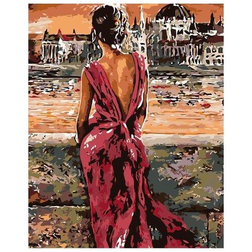 Картина по номерам Живопись по Номерам Красное платье , 40x50 см, Живопись по номерам, Картины по номерам и контурам  - купить со скидкой