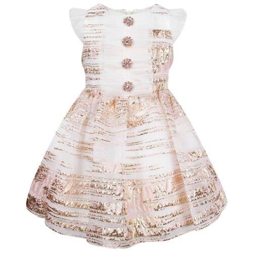 Платье David Charles размер 98, розовый/золотой