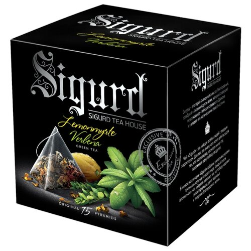 Чай зеленый SIGURD Lemonmyrte & Verbena в пирамидках , 15 шт. newby hunan green зеленый чай в пирамидках 15 шт