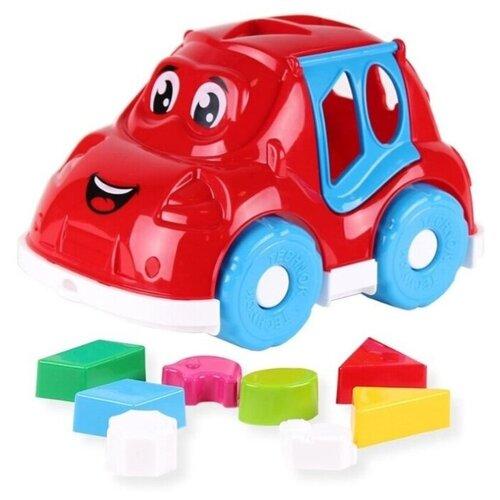 Купить Автомобиль-сортер Technok Toys, ц. красный, ТехноК, Сортеры