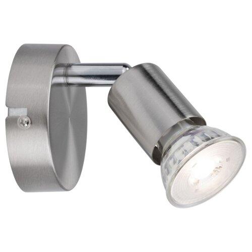 Настенный светильник Spotlight Carolina max1x10W GU10 Ni matt 66743 светильник spotlight teja max1x10w gu10 ni sat mt