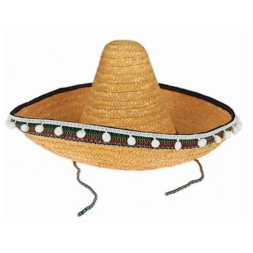 Купить Карнавальная шляпа Страна Карнавалия Сомбреро , р. 56-58, цвет желтый (317884), Карнавальные костюмы