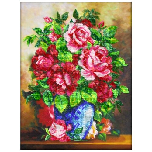 Купить Набор Ваза с розами 24х32 Паутинка Б-1258, Наборы для вышивания