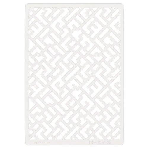 Купить Трафарет для скрапбукинга Mr. Painter Тетрис TFR-10 серый, Инструменты и аксессуары