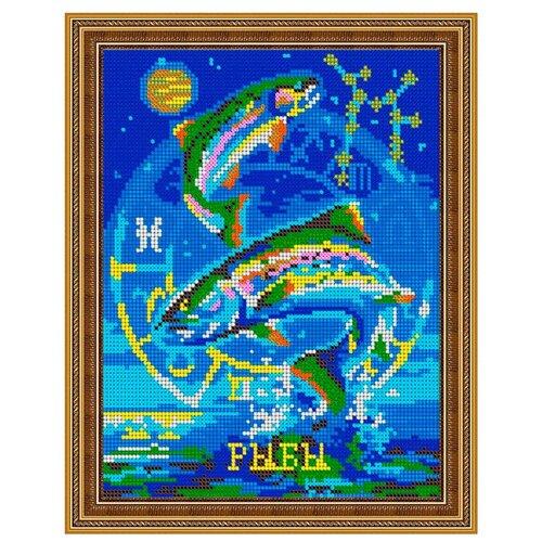 Светлица Набор для вышивания бисером Рыбы 19 х 24 см, бисер Чехия (481П)