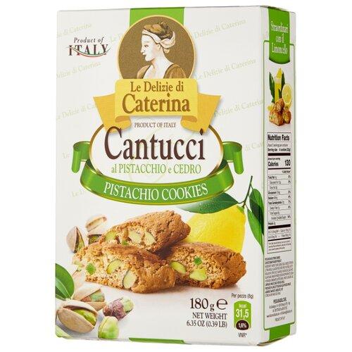 Фото - Печенье Le Delizie di Caterina Кантуччи с фисташками и цедрой лимона, 180 г традиционное итальянское печенье falcone кантуччи с фисташками и лимонной цедрой 180 г