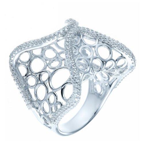 Фото - JV Серебряное кольцо с кубическим цирконием DM0026R-KO-001-WG, размер 18 jv серебряное кольцо с кубическим цирконием dm0026r ko 001 wg размер 18