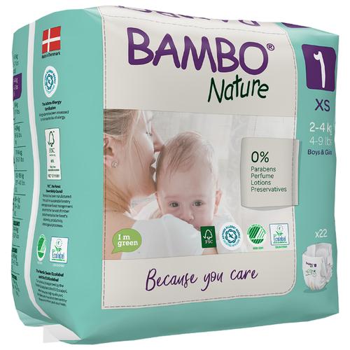 Купить BAMBO подгузники Nature 1 (2-4 кг) 22 шт., Подгузники
