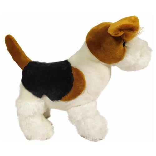 Мягкая игрушка Собачка меховая коричневая 26 см.
