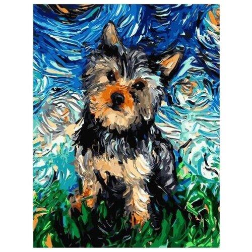 Купить Картина по номерам Paintboy Вечерний терьер , 40x50 см, Картины по номерам и контурам