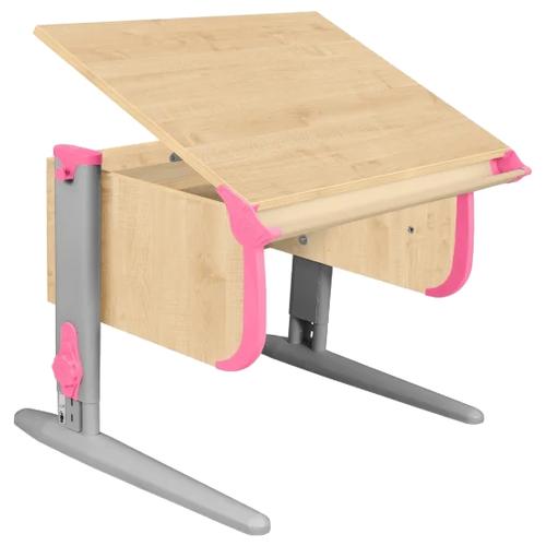 Купить Стол ДЭМИ СУТ-24 75x55 см клен/розовый/серый, Парты и столы