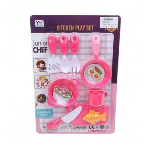 Набор продуктов с посудой Наша игрушка 645145 разноцветный, Игрушечная еда и посуда  - купить со скидкой