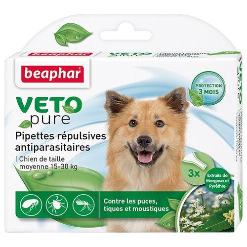 Beaphar капли от блох и клещей Veto pure для собак от 15 до 30 кг