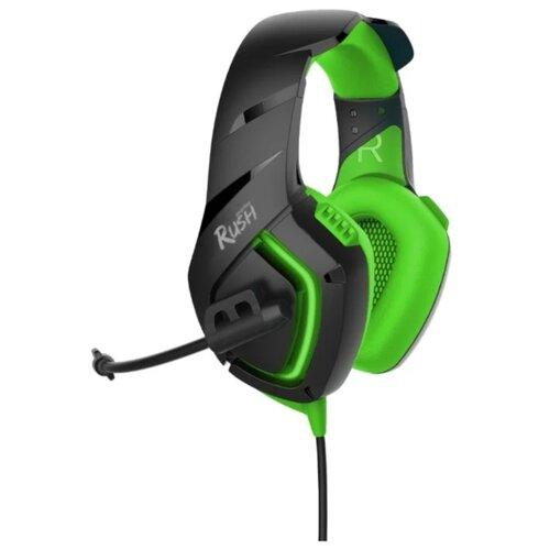 Компьютерная гарнитура SmartBuy Rush Skythe черный/зеленый