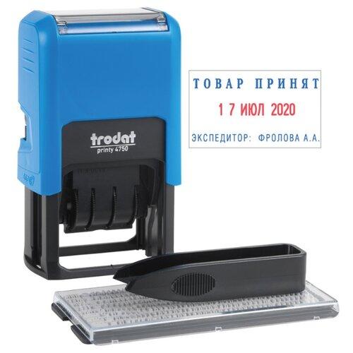 Датер Trodat 4750/DB прямоугольный самонаборный двухцветная