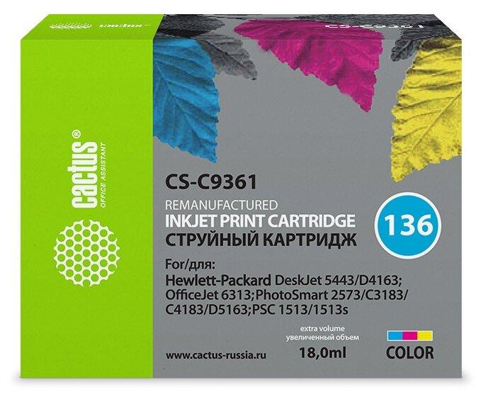 Картридж cactus CS-C9361 136, совместимый — купить по выгодной цене на Яндекс.Маркете
