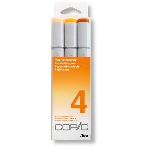 Купить COPIC набор маркеров Sketch Color Fusion 4 (H21075-654), 3 шт., Фломастеры