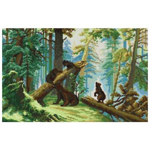 набор для живописи белоснежка прохлада в летний день 277 as 30 х 40 см Белоснежка Набор для вышивания Утро в сосновом лесу 43 х 30 см (4160-14)