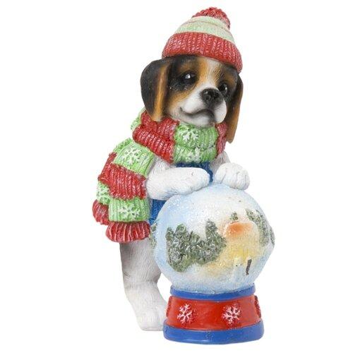 Фото - Фигурка Феникс Present Собака с волшебным шаром 10 см красный/зеленый/синий фигурка феникс present дедушка мороз 26 см белый голубой красный