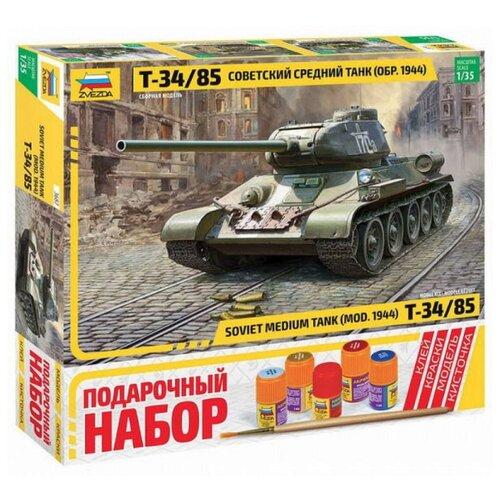Купить Сборная модель ZVEZDA Советский средний танк Т-34/85 (3687П) 1:35, Сборные модели