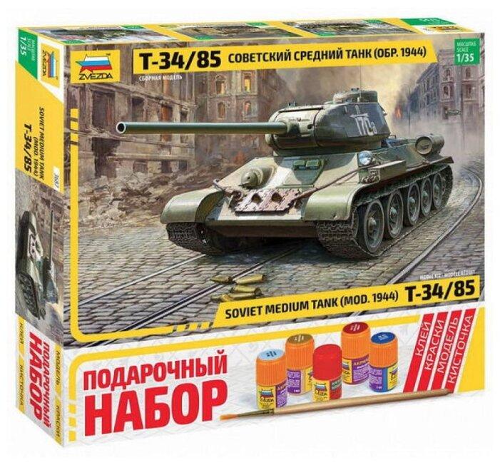 Сборная модель ZVEZDA Советский средний танк Т-34/85 (3687П) 1:35