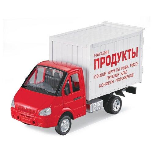 Фургон Play Smart Газель Продукты (9077-A/Р40514) 1:27, 24 см, красный/белый