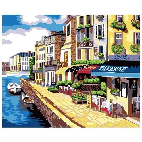 Картина по номерам Белоснежка Солнечная набережная, 40x50 см