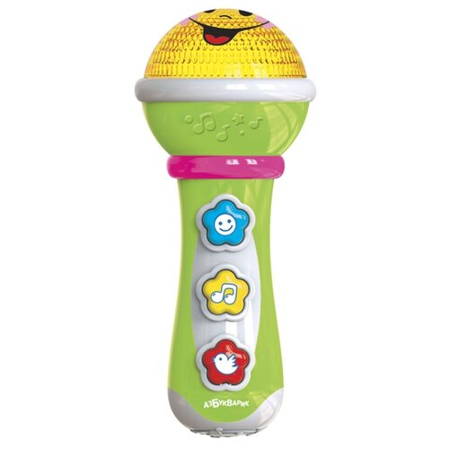 Азбукварик микрофон Маленький Музыкант зеленый, Детские музыкальные инструменты  - купить со скидкой