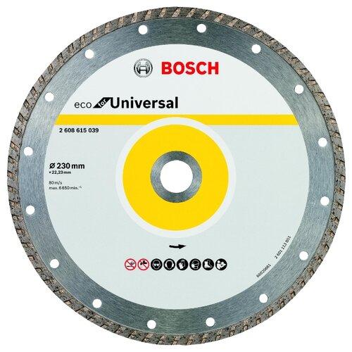 Фото - Диск алмазный отрезной BOSCH ECO Universal Turbo 2608615039, 230 мм 1 шт. диск алмазный отрезной bosch standard for universal turbo 2608602395 150 мм 1 шт