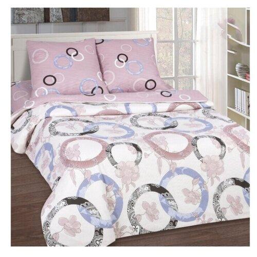 постельное белье luxe dream elite розово кремовый светло серебряный евро стандарт Постельное белье/Мелодия (Поплин-De Luxe)/АртПостель/Евро