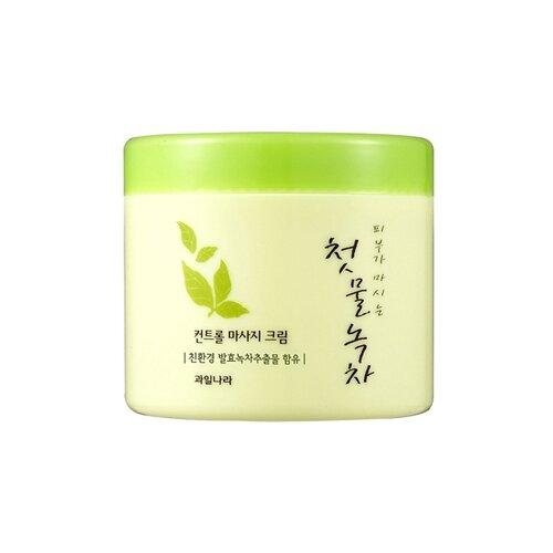Купить Welcos Green Tea Control Massage Cream Массажный крем для лица, 300 г