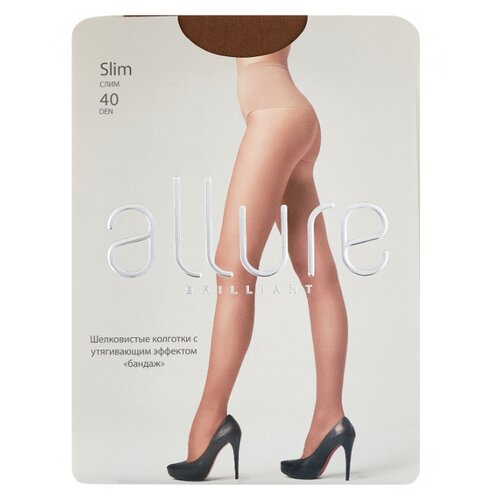 Колготки ALLURE Brilliant Slim 40 den, размер 2, glase (золотистый) колготки allure brilliant vista 40 den размер 3 glase