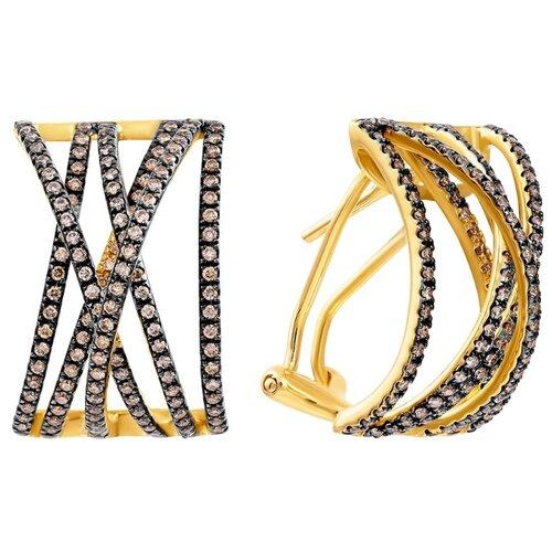 JV Серьги из золота с бриллиантами ME33546-BR-YG-DN-YG