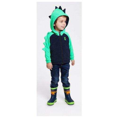 Фото - Толстовка Oldos размер 110, синий/зеленый куртка oldos гари ass201rjk04 размер 110 зеленый