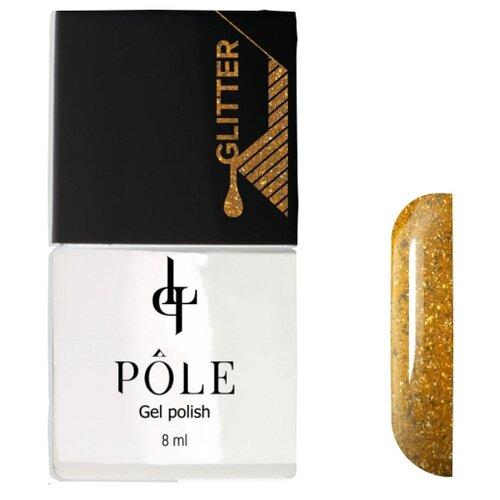 Гель-лак Pole Glitter effect, 8 мл, оттенок Золотой Песок charme pro line гель лак 177 золотой песок
