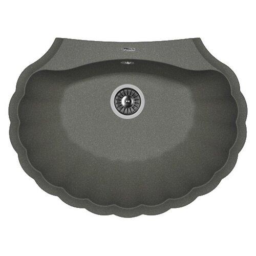 Фото - Врезная кухонная мойка 69.5 см FLORENTINA Гребешок черный врезная кухонная мойка 69 5 см florentina гребешок мокко