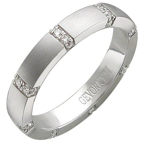Эстет Кольцо с 32 бриллиантами из белого золота 01О620368, размер 17
