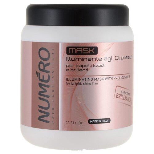 Brelil Professional Numero Маска для волос для придания блеска с маслом макадамии и арганы, 1000 мл недорого