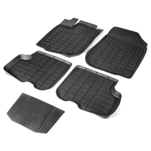 Комплект ковриков RIVAL 64702001 5 шт. черный