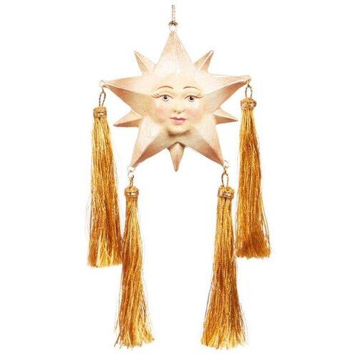 Елочная игрушка Goodwill Звезда с кисточками 9 см (B 94462) золотистый.