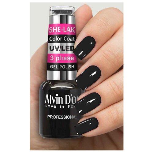 Купить Гель-лак для ногтей Alvin D'or She-Lak Color Coat, 8 мл, оттенок 3550