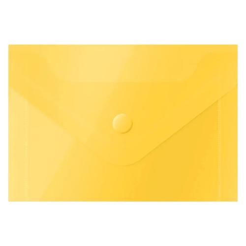 Купить OfficeSpace Папка-конверт на кнопке А7, пластик 150 мкм, 20 шт желтый, Файлы и папки