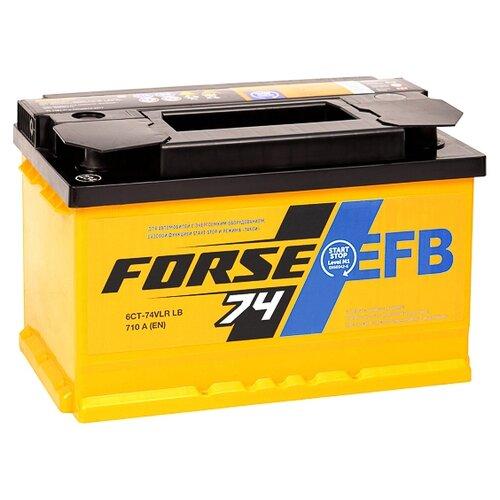 Автомобильный аккумулятор Forse EFB 6СТ-74VLR LB аккумулятор forse 6ст 65vl jis о п